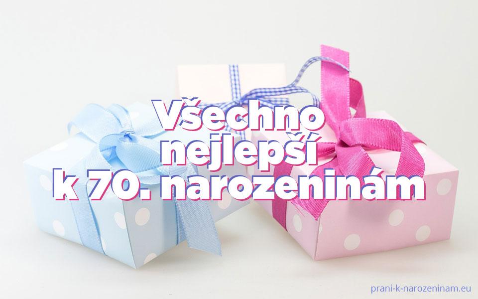 Blahopřání k 70. výročí narozenin obrázkové