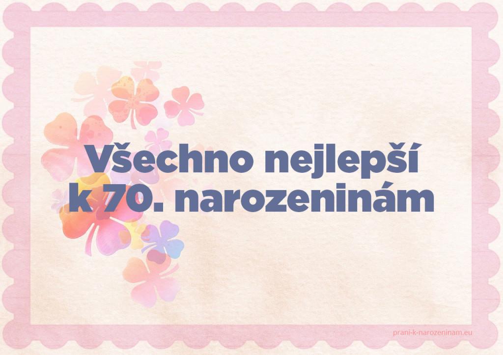 70. výročí narozenin přání