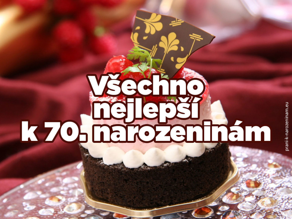 Obrázek přání k sedmdesátému výročí narozenin