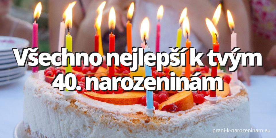 Obrázek přání ke čtyřicátým narozeninám
